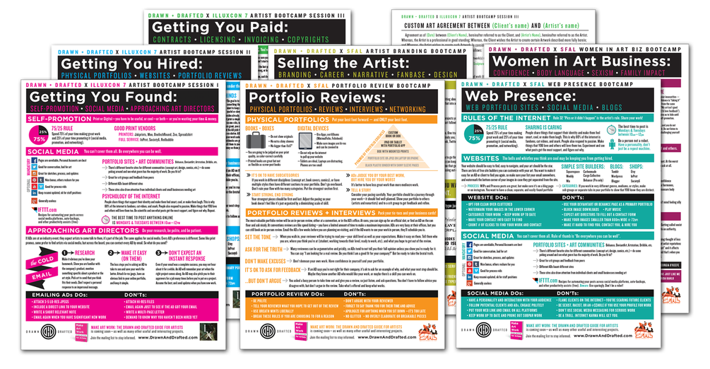 Art Business Bootcamp Cheat sheets
