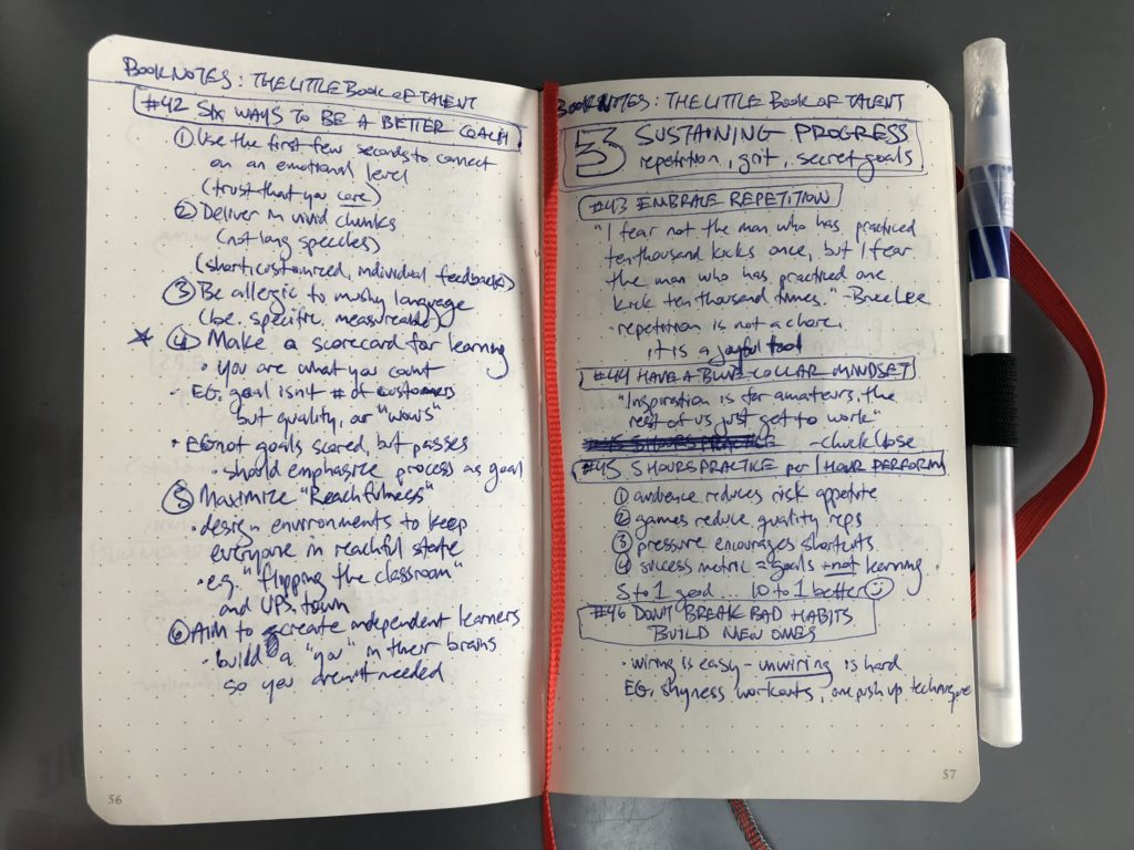 Book notes, The Little Book of Talent
