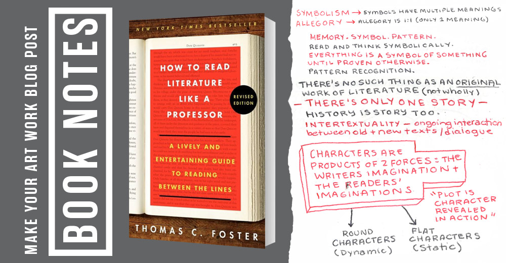 Book Notes How To Read Literature Like A Professor Make Your Art Work